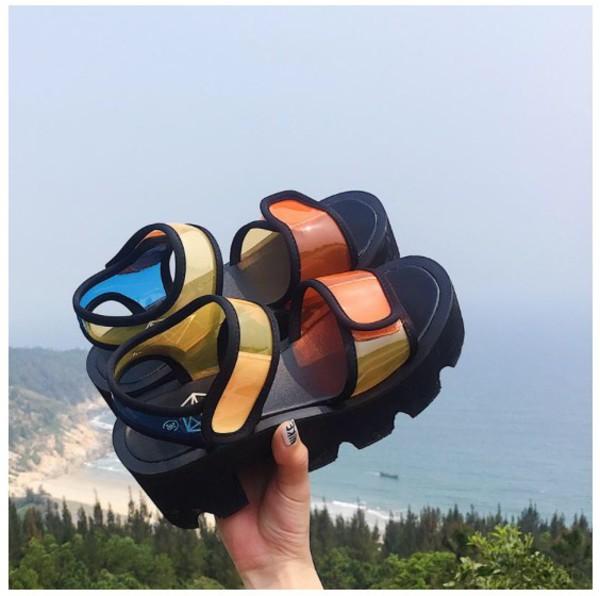 shoes girly girly wishlist black colorful creepers platform sandals platform shoes