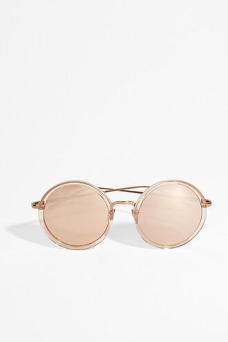 rose gold rose sunglasses round sunglasses gold