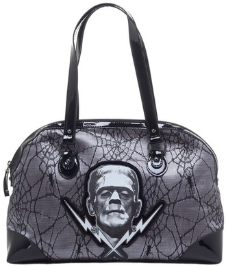 bag purse goth alternative dark grey bag handbag