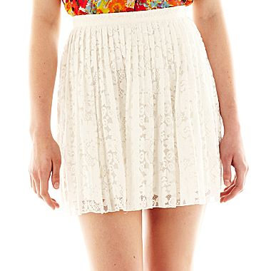 Allen B.® Lace Pleated Short Skirt - JCPenney