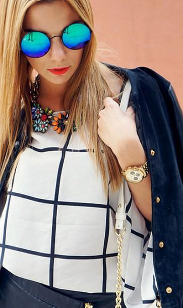 blouse pattern sunglasses
