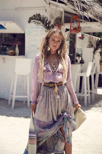 dress bohemian boho maxi skirt