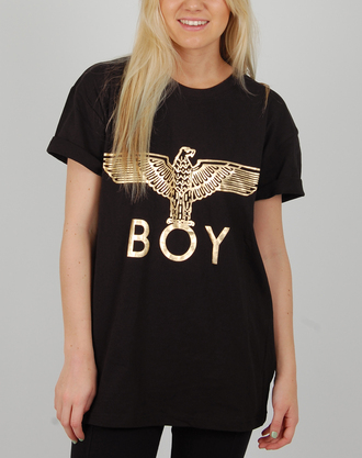 t-shirt boy boy london black gold