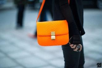 bag orange orange bag
