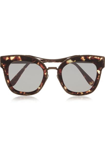 Bottega Veneta sunglasses bronze brown
