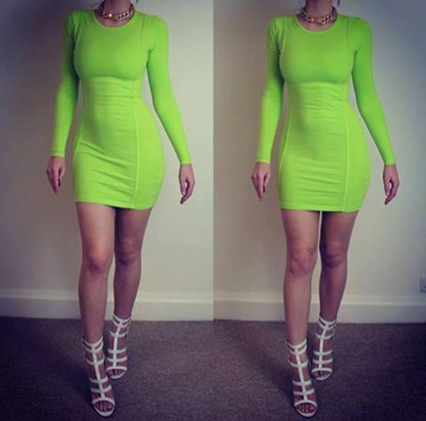dress neon dress lime dress green dress colors fluro neon