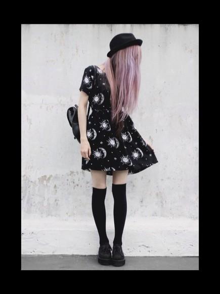 dress style shoes bag black hat socks hairstyles