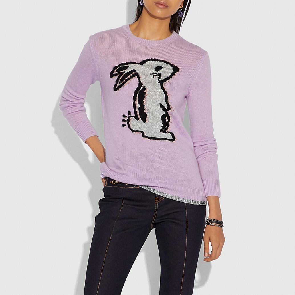 Selena Bunny Intarsia Sweater