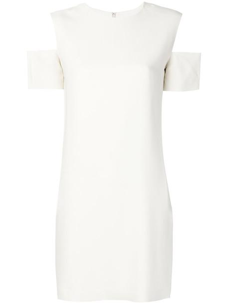 Helmut Lang dress shift dress women spandex cold white