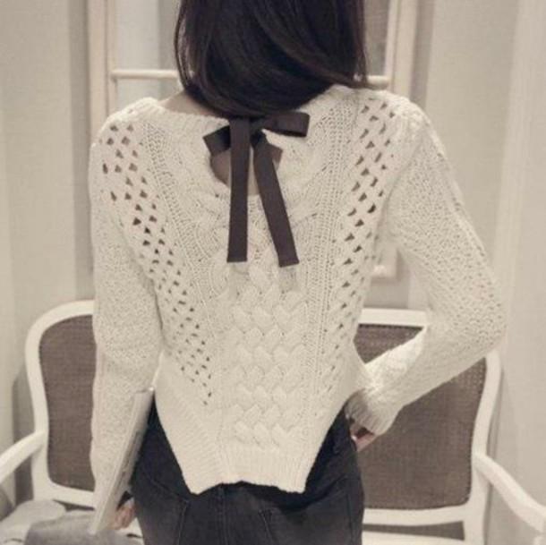 sweater black ribbon