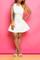 Nadia neoprene white tank dress