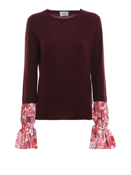 Dondup Printed Cuff Merino And Cashmere Sweater