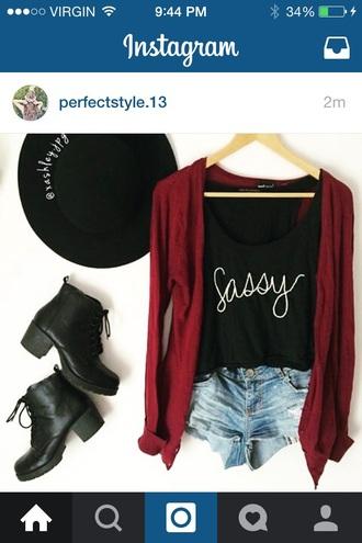 blouse black top tee