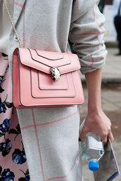 bag,bvlgari serpenti bag,pink bag,bvlgari serpenti,chain bag,tumblr,bulgari serpenti bag,floral skirt,pastel bag