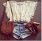 Cute lace woven blouse tessel / wantde
