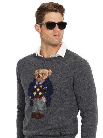 61e7641b7 Argyle Polo Bear Wool Sweater - Crewneck Sweaters - RalphLauren ...