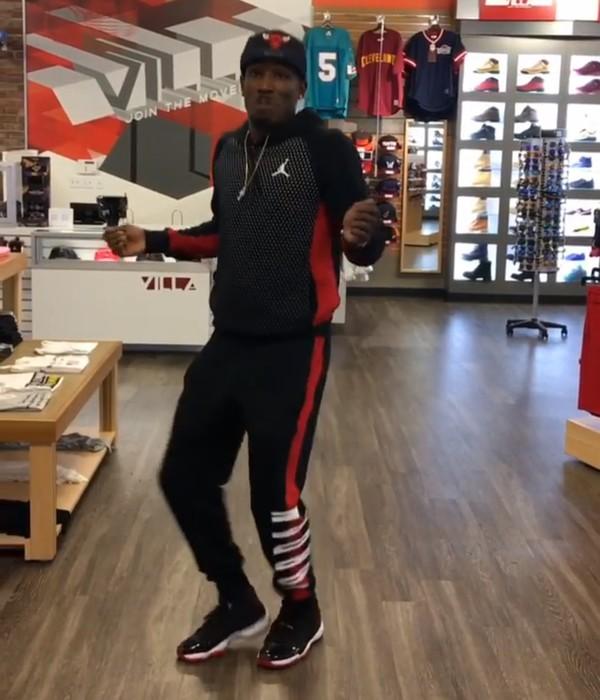 Jumpsuit jordan red black air jordan outfit bred 11s - Wheretoget