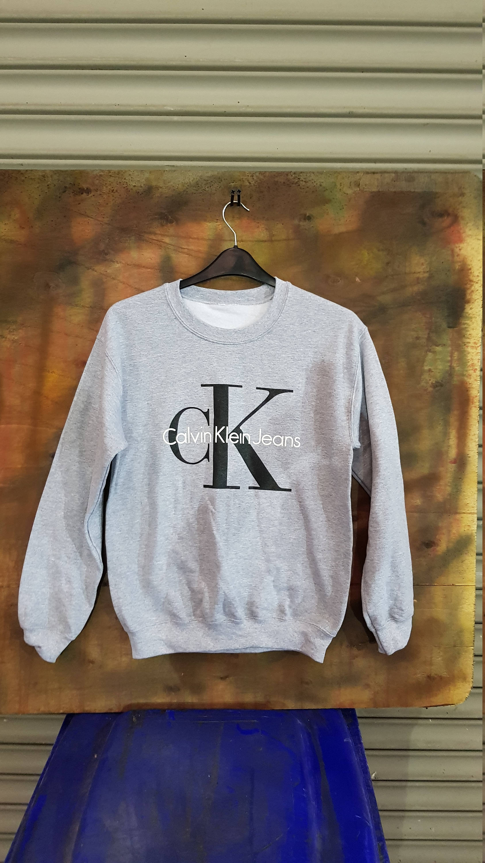 Sassy customised CK crop sweatshirt jumper top urban swag festival style one size