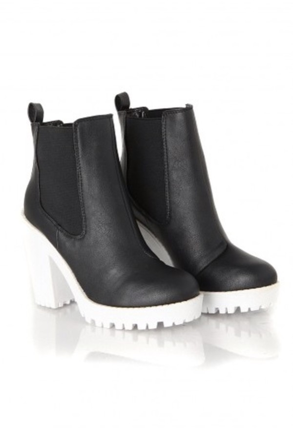 shoes boots black white