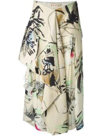 skirt floral skirt floral nude