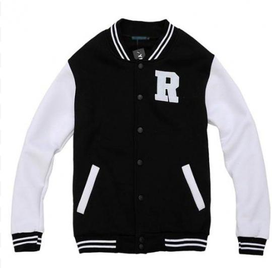 Letter R Black and White Varsity Jackets For Girls [Letterman R Varsity Jackets] - $67.00 : Varsity Jackets Sale, Mens Baseball Jackets Outlet