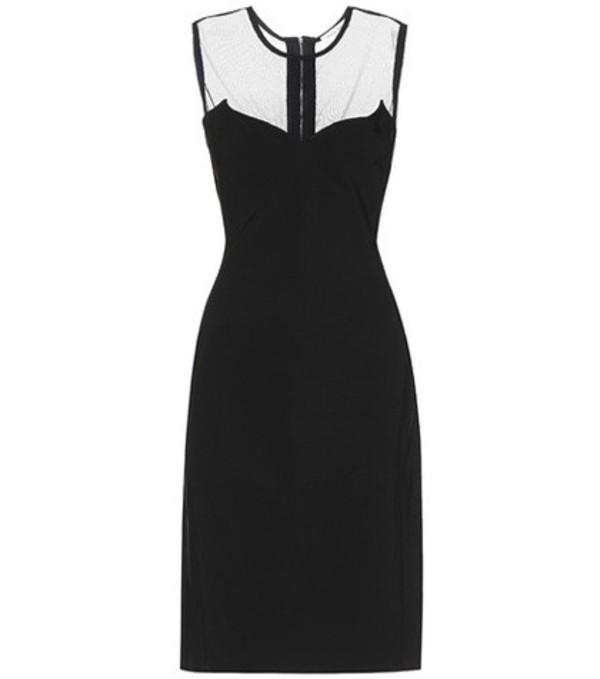 Mugler Crêpe dress in black