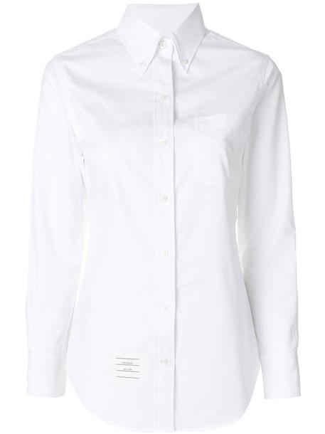 Thom Browne shirt women fit white cotton top