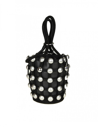 studs mini bag black