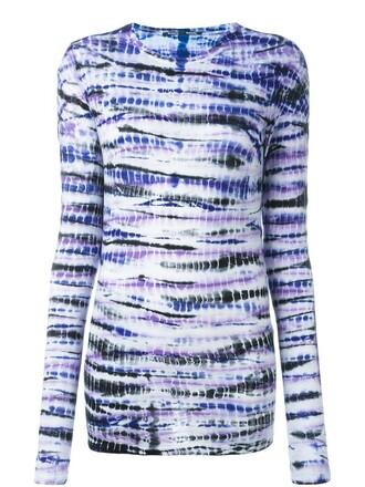 t-shirt shirt tie dye print purple pink top