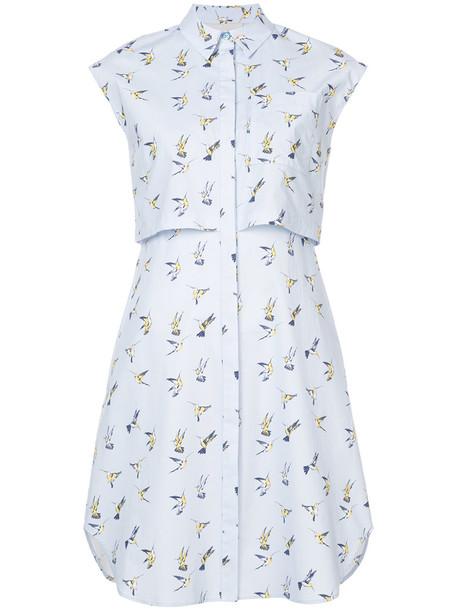 dress shirt dress women spandex cotton blue