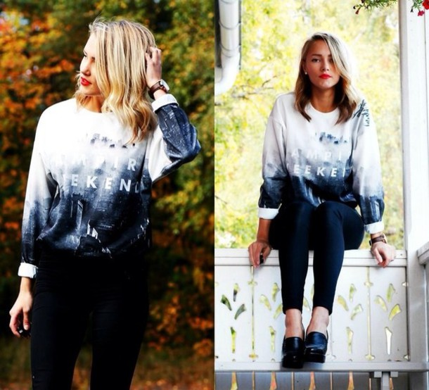 sweater band t-shirt band t-shirt black white b&w vampire sweatshirt crewneck crewneck crewneck sweater tumblr tumblr girl tumblr clothes tumblr outfit