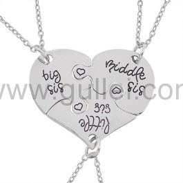 Missing Piece Puzzle Sisters Necklaces Birthday Gift Set