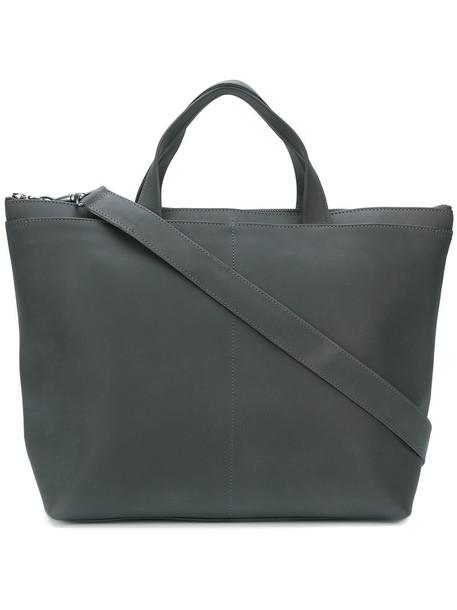 Isaac Reina - petit pilot tote bag - women - Calf Leather - One Size, Grey, Calf Leather