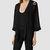 Womens Iree Kimono Jacket (Black) | ALLSAINTS.com