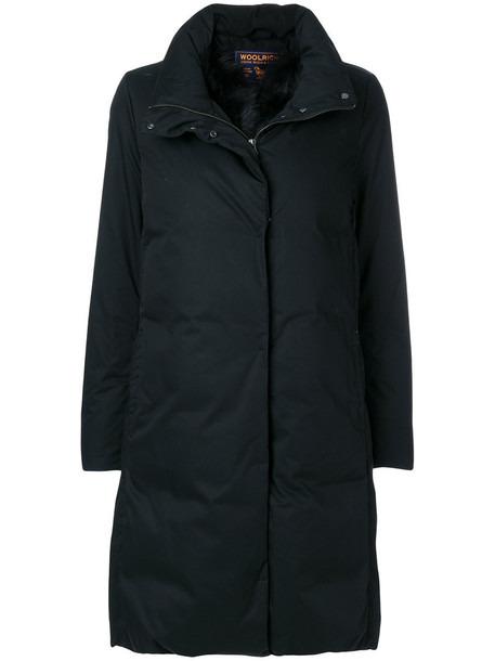 Woolrich coat fur women cotton black