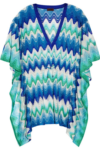 knit crochet blue mint cobalt blue top