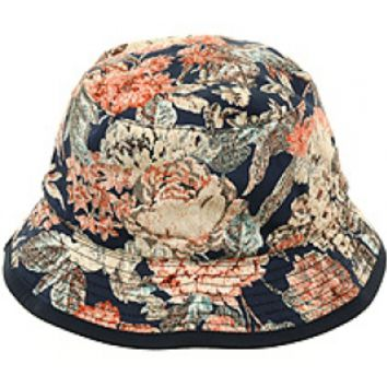 Floral Bucket Hat by Flex Fit - Navy | Hat Club on Wanelo