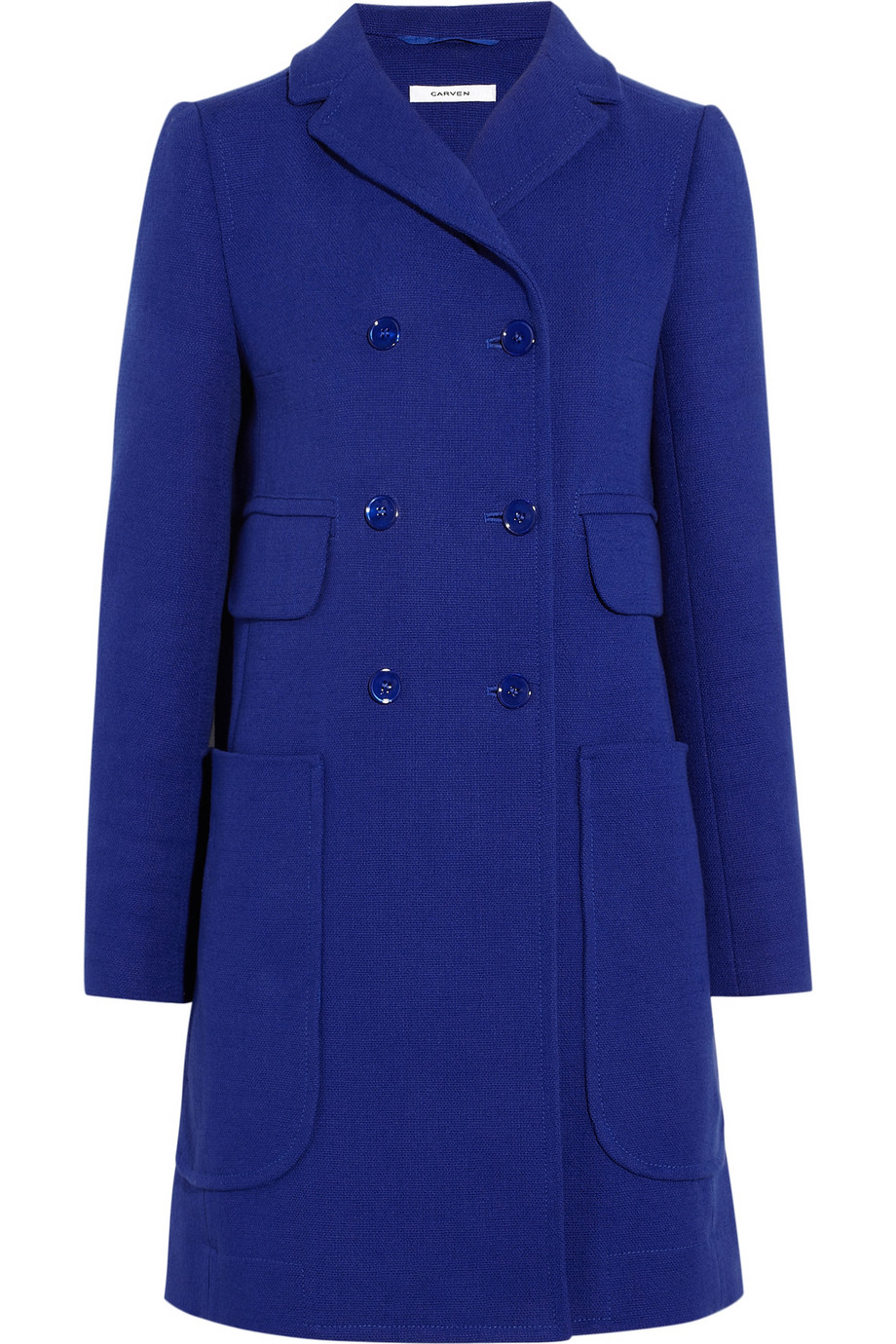 Double-breasted cotton-twill coat | Carven | 60% off | THE OUTNET