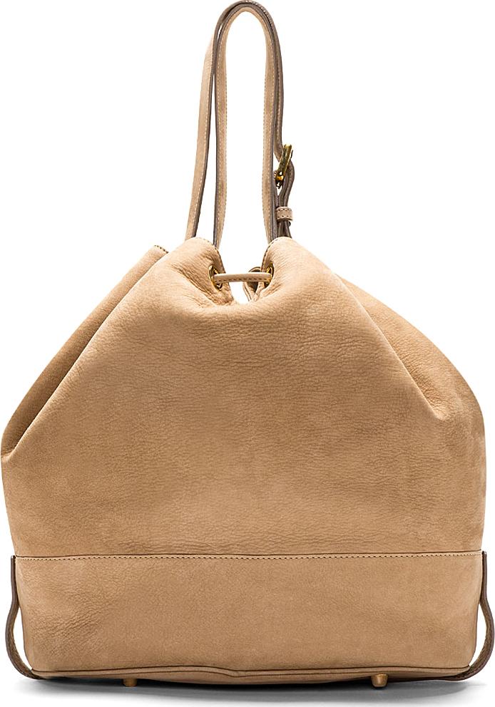 A.P.C. - Beige Nubuck Bucket Bag | SSENSE