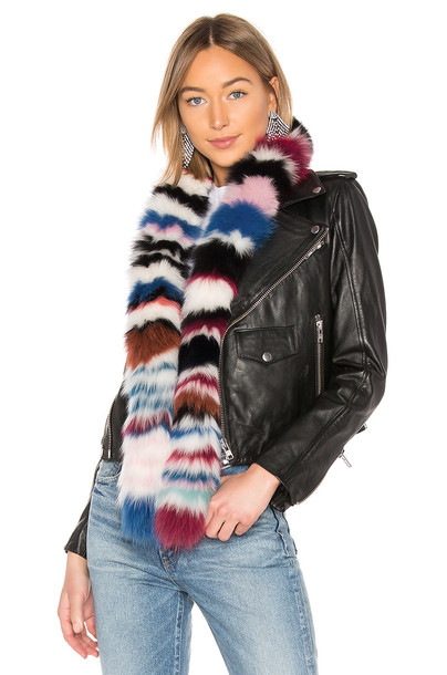 Charlotte Simone Chunky Monkey Fox Fur Scarf in pink