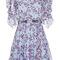 Long sleeve flower mini dress | moda operandi