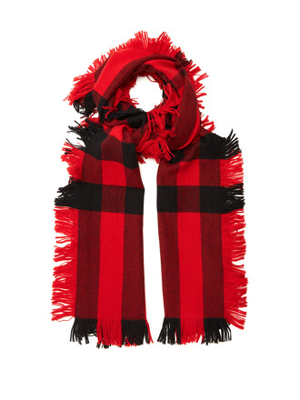 scarf wool red