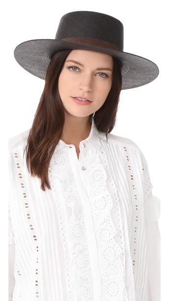 aa63fc55e8cadb Janessa Leone Janessa Leone Lina Bolero Hat - Black
