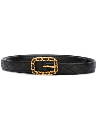 women quilted belt black