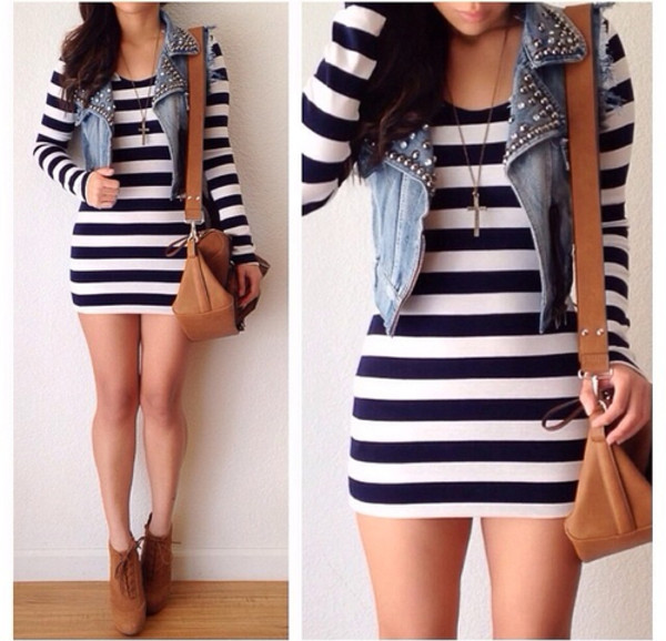 dress jacket shoes cute dress bag denim jacket vest cropped