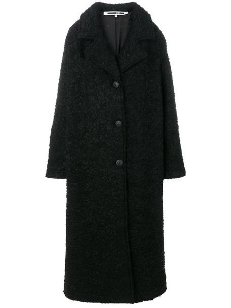 McQ Alexander McQueen coat women spandex black wool