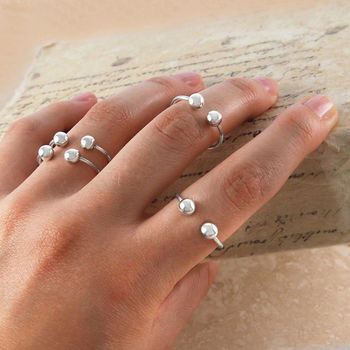 c475eecf2 adjustable double ball sterling silver ring by otis jaxon silver jewellery  ...