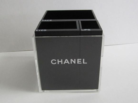 bag chanel make-up box makeup bag make up case case chanel make up