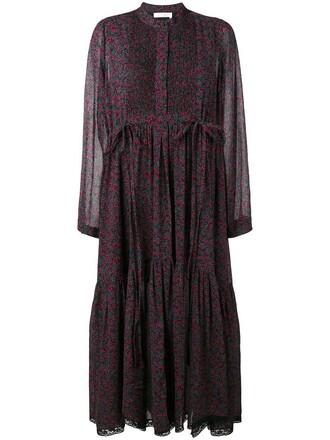 dress print dress cherry women cotton print silk red