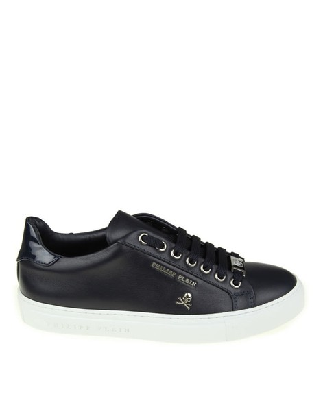 PHILIPP PLEIN sneakers. light sneakers leather blue shoes